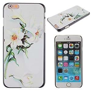 GX elegante y hermoso lirio flores patrón pc cubierta dura para el iPhone 6 Plus