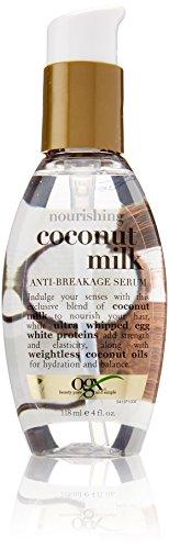 OGX Nourishing Coconut Milk Anti Breakage Serum, 4 Ounce (Pack of (Nourishing Coconut Milk)