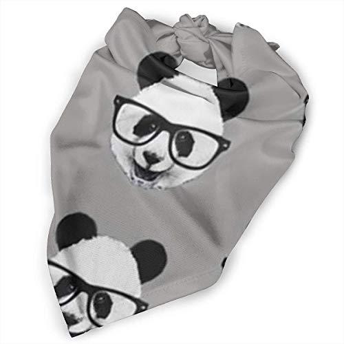 Angel kuy Pet Scarf Dog Bandana Bibs Triangle Head Scarfs Panda Gray Black Accessories for Cats Baby -