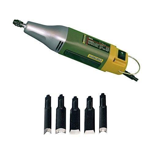 (Proxxon 38644 Die-Cast Aluminum Power Carver MOS, 5-Piece Carving Knives for SGM)