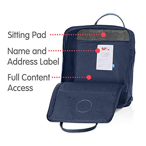 Fjallraven Men's Kanken Backpack, Royal Blue/Pinstripe, One Size by Fjallraven (Image #5)