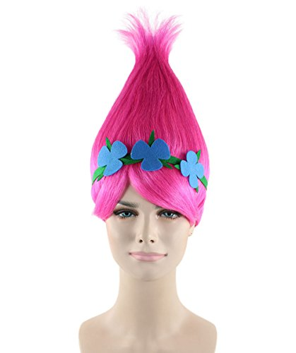 Amazon.com: Halloween Party Online Troll Princess Wig & Costume Bundle Adult HW-1079/HC-072: Clothing