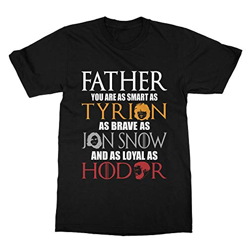 Game of Thrones Father's Day T-Shirt (Men) Black Black Game Day T-shirt