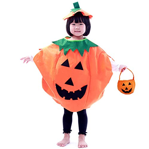 Homemade Toddler Costumes For Halloween (Festar Halloween 3PC Pumpkin Costume for Kids Children Cosplay Party Clothes)