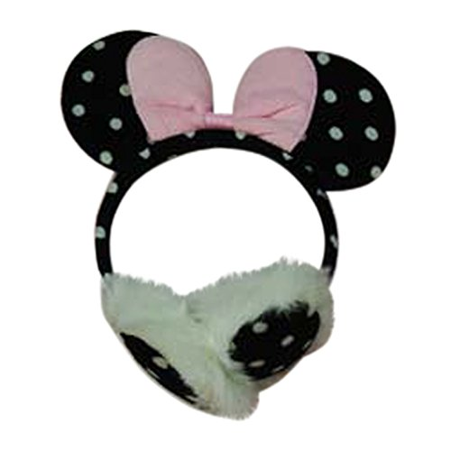 Polka Dot Minnie Mouse Ears Headband Ear Muff Toddler Girls Costume Dressup (Pink Bow)