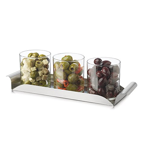 Libbey Modern Bar Garnish and Condiment Tray Set - 4 Pieces by Libbey