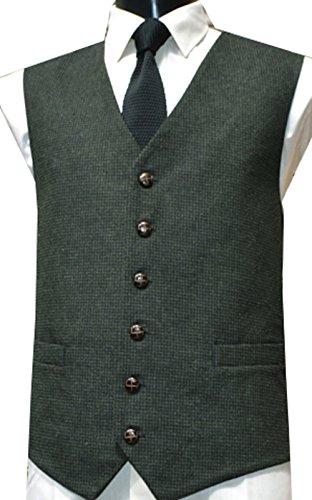 Classic Wool Handle Traditional Check Style Tweed Waistco...