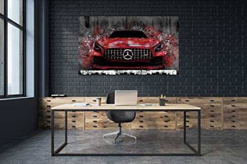 Mercedes AMG GT toile Impressions mur Art Extra Large Toile Imprimé 60-35 in