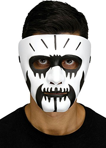 Fang Mask (Black and White Voodoo Fangs Clown Costume Mask)