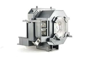 Rangeolamps–Lámpara de proyector con carcasa para EPSON PowerLite 400W V13H010L42