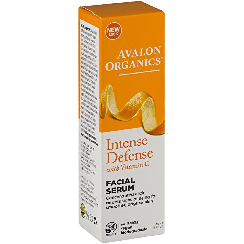 Avalon Organics Intense Defense Facial Serum, 1 - Vitamin Vitality Serum C Organics Avalon Facial