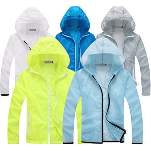 Uv Abbigliamento Rapida Skin color Grün Solare Vento Protezione Giacca Traspirante 2 S Nner Men Unisex A Asciugatura Size XwI1Xprq