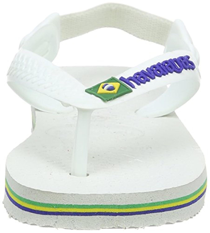 Havaianas Baby Brasil Logo Kids Sandals - White (3 UK, 19 BR)