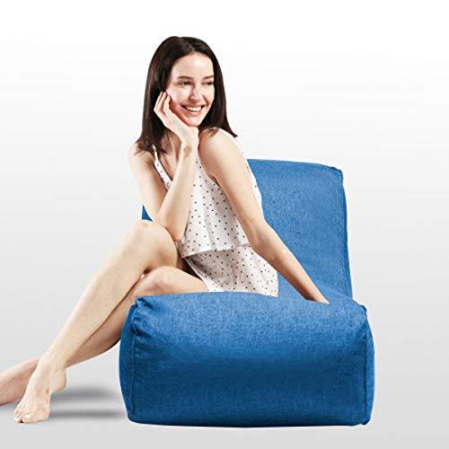 DERCASS Bean Bag Chair, Foam Lounger 15.75 Huge Memory Foam Furniture Bean Bag – Big Sofa with Soft Fiber Cover Blue
