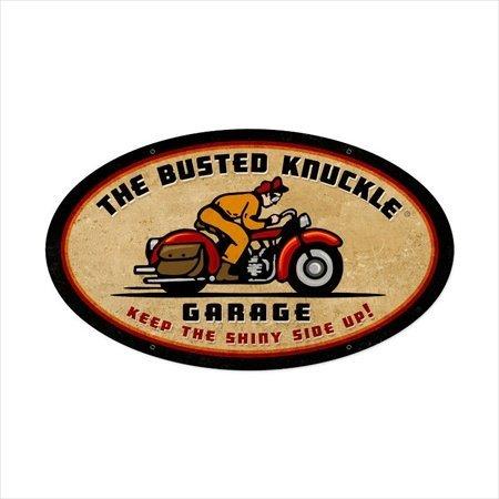 Pasado Tiempo Signos bust057 Retro Rider motocicleta oval metal sign: Amazon.es: Oficina y papelería