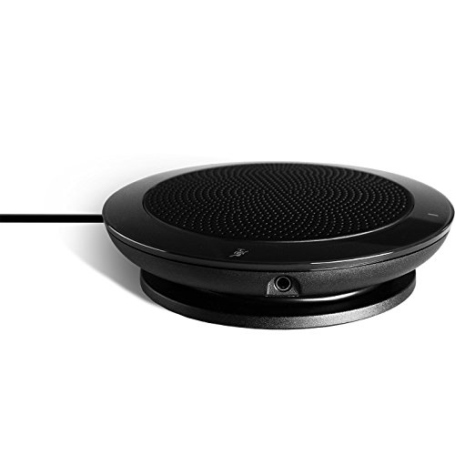 Jabra Speak 410 Corded Speakerphone for Softphones – Easy Setup, Portable USB Speaker for Holding Meetings Anywhere with Outstanding Sound Quality