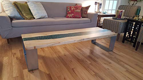 River Table Maple with Emerald Resin