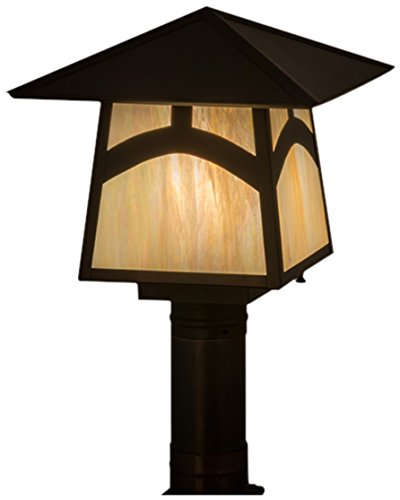 Meyda Tiffany 45234 Stillwater Hill Top Post Mount Light Fixture, 12 sq. in. from Meyda Tiffany