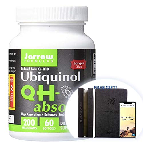 Jarrow Formulas QH-Absorb, High Absorption/Enhanced Stability, 200 mg,115 Count Productivity Planner - Attain Your Dreams! (115 Count, 200 MG) Green