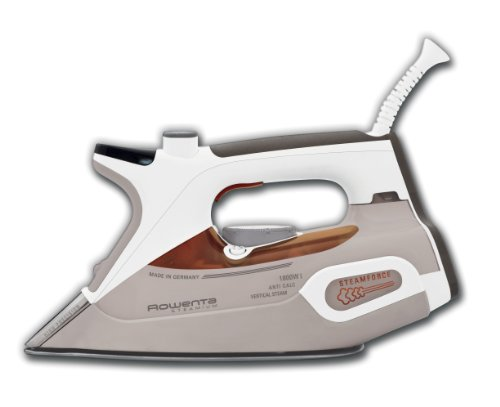 Rowenta DW9081 Steamium 1800-Watt Electronic Steam Iron Stainless Steel Soleplate with Auto-Off, 400-Hole, Brown