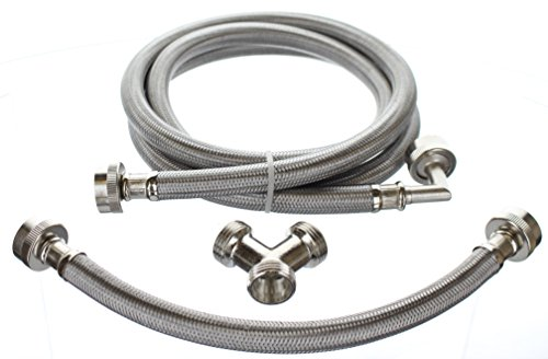 (Premium Steam-Dryer Installation Kit - Braided Stainless Steel, 6 ft)
