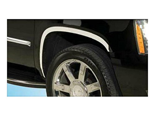 ESCALADE 2007-2014 CADILLAC (6 Pc: Stainless Steel Fender Trim - Clip on (Cadillac Escalade Fender Trim)