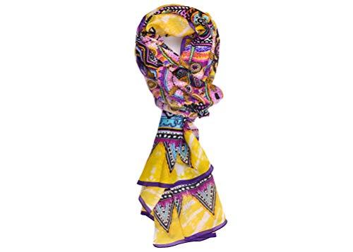 Roberto Cavalli Women's Multicolor Geometric Print Silk Scarf 26