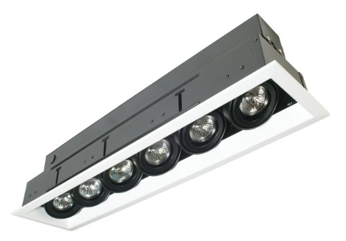 Eurofase TE116ATR-0N 6-Light MR16 Recessed Mutiple Strip Trim with 0084B4 Transformer, Platinum Eurofase Platinum Trim