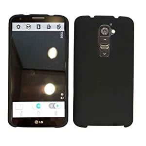 Cell Armor Snap-On Case for LG G2 - Retail Packaging - Honey Black, Leather Finish by runtopwell