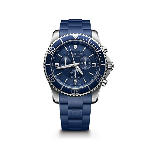 Victorinox Men's 241690 Maverick Chrono Analog Display Swiss Quartz Blue Watch
