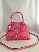 Coach VALENTINE'S DAY MINI CORA Dome Satchel Pink Bag / Purse W Horse Carriage Logo 33852