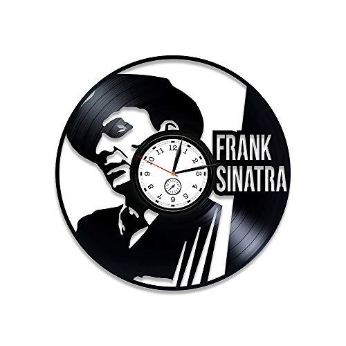 Kovides Frank Sinatra Vinyl Wall Clock Frank Sinatra Gift Frank Sinatra Clock Wall Clock Frank Sinatra Art Birthday Gift Vinyl Record Clock 12 inch Frank Sinatra Decor Gift Frank Sinatra