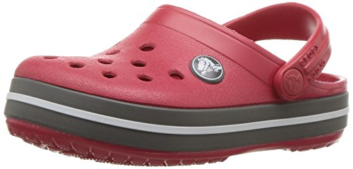 Crocs Kids' Crocband Clog, Pepper/Graphite, 5 Toddler
