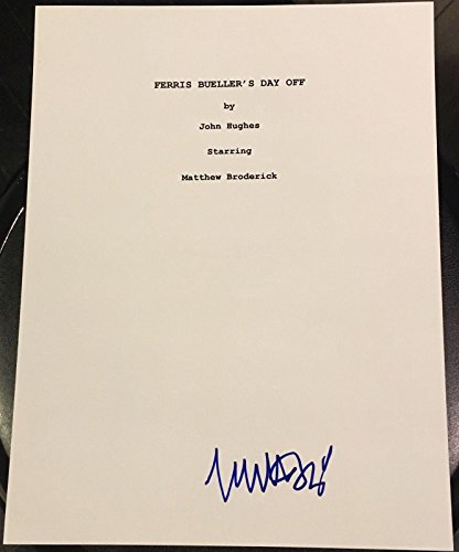 Matthew Broderick Signed Autograph Ferris Buellers Day Off Full Movie Script Coa ()