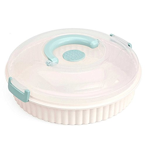 Pie Carrier by Sweet Creationsn 2-piece-set, 12'' L x 12'' W x 4-1/4'' H, BPA free (6) by Sweet Creations