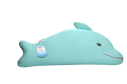 Nestraw 3D Dolphin Pillow- Preventing Flat Head for Toddler,Made of Cotton and Polyester Fibre,Hand or Machine Washable,Breathable,Height Adjustable,1-5 Years Old - Types Shape Head