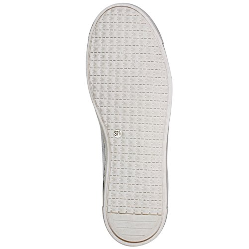 Maripe Sneaker in weiß/silber/blau mp-24564-152050 Weiß/Silber/Blau