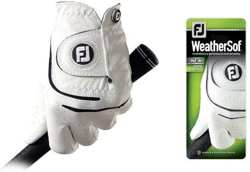 FootJoy WeatherSof Mens Golf Glove Left Hand Regular White Large