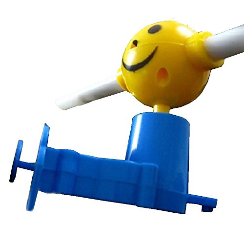 LUCKSTAR(TM) Creative Shining Luminous Musical Windmill Music Light Up Flashing Led Smiley Hand Push Windmill Puzzle Kids Children -