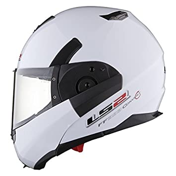 Casco modular LS2 FF 393 CONVERT-S, color blanco, color blanco