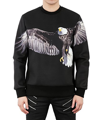 wiberlux-neil-barrett-mens-neoprene-eagle-print-side-zip-sweatshirt-m-black