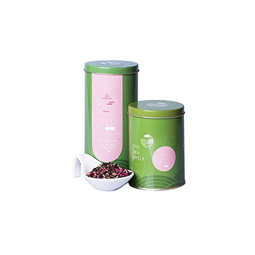 Rose Tulsi Green Tea 3.5oz (40 cups) Loose leaf by The Tea Shelf – Wellness Tea, Rich in Antioxidants, Fresh from India with Holy Basil & Sweet Rose, Low Caffeine, 100% Natural Ingredients by The Tea Shelf