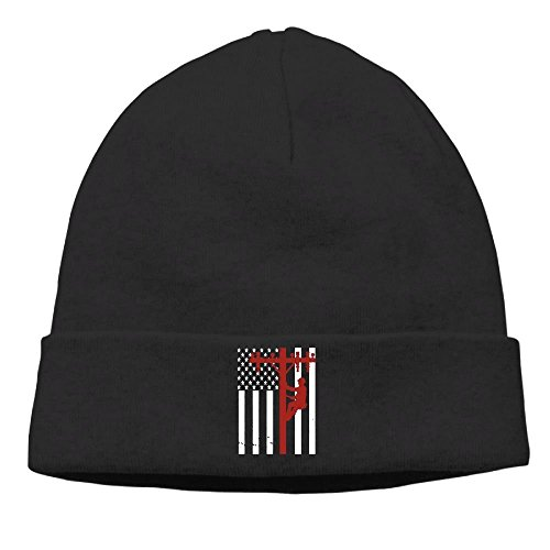 Beanies American For 1 Lineman Design Unisex The Wool Hat Autumn Winter Knitted On Back Cap FSfqFZw