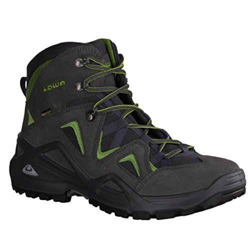 Lowa Men's Zephyr GTX Mid Hiking Boot,Anthracite/Green,8.5 M ()