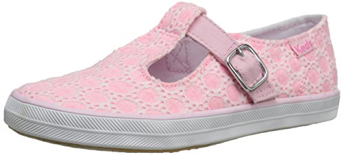 Keds T-Strappy Mary Jane (Toddler/Little Kid), Pink Eyelet, 5 M US (Keds Canvas Mary Janes)