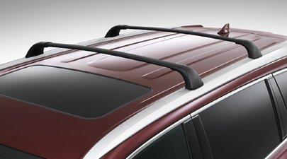 Genuine Toyota Highlander Roof Rack Cross Bar Set PT278-48170. 2 Black Cross Bars. 2014-2017 Highlander with factory silver side rails. (Rails Side Factory)