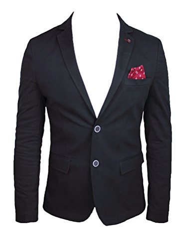 Slim Jacket Fit Sartoriale Uomo Nera Blazer Giacca In Italy Etro Casual Made AFqxf