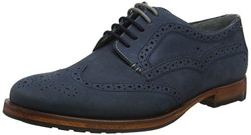 Derby Dark Azul de Zapatos Hombre para 0000ff Senapen Blue Baker Ted Cordones 7XqxAgCwX