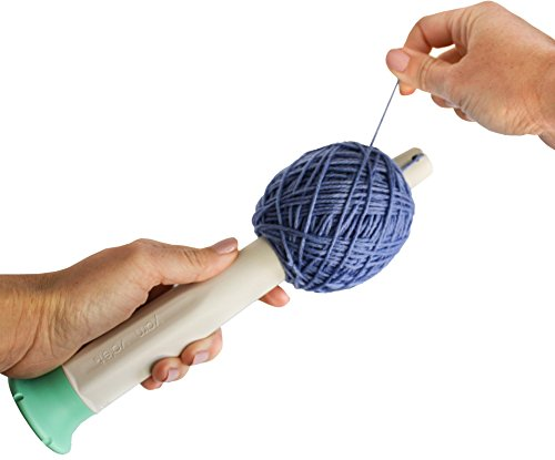 Yarn Ball Winder by Yarn Valet Create Center Pull Balls, Ergonomic Grip, Storage Compartment Inside