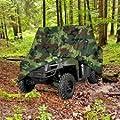 Utv Heavy Duty 420 Denier Camo Waterproof Utv Side By Side Cover Covers Fits Up To 124'l Utv Cover For Rhino Ranger Mule Gator Prowler Razor Recon Rzr Viking Wolverine Wildcat (2 Year Warranty)